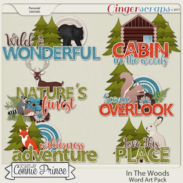 In The Woods - Word Art