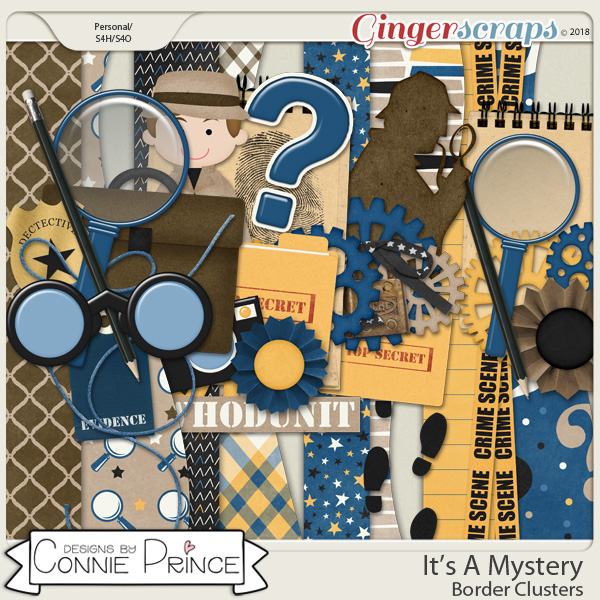 It's A Mystery - Border Clusters by Connie Prince