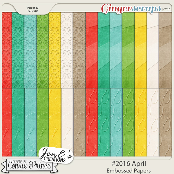 #2016 April - Embossed Papers