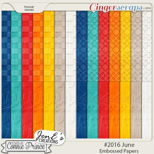 #2016 June - Embossed Papers