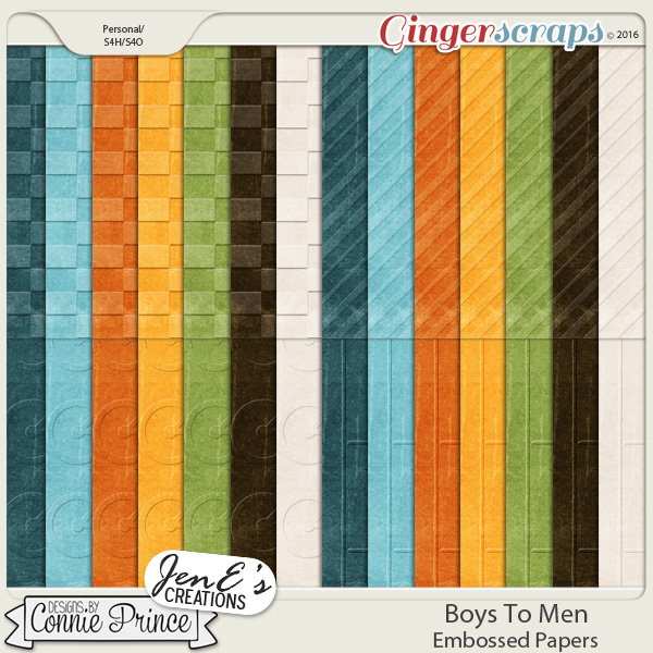 Boys To Men - Embossed Papers