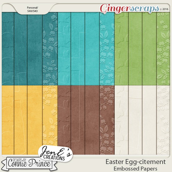 Easter Egg-citement - Embossed Papers