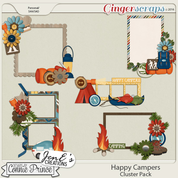 Happy Campers - Cluster Pack