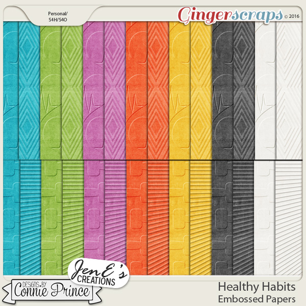 Healthy Habits - Embossed Papers