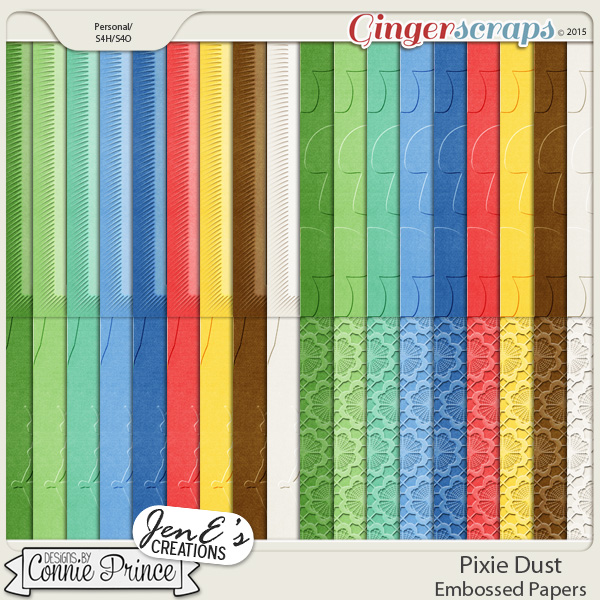 Pixie Dust - Embossed Papers