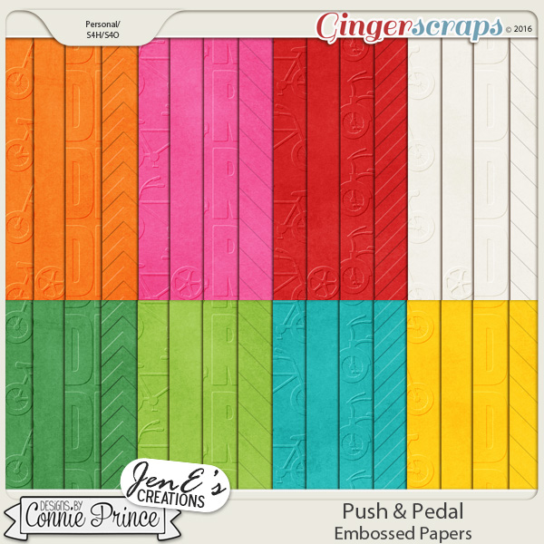 Push & Pedal - Embossed Papers