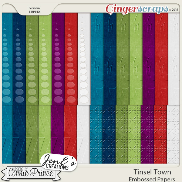 Tinsel Town - Embossed Papers