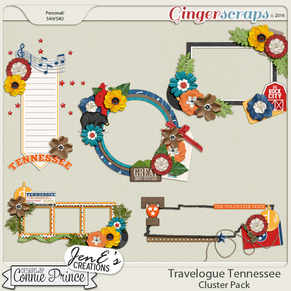 Travelogue Tennessee - Cluster Pack