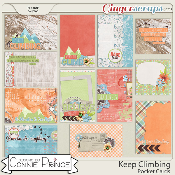 Keep Climbing - Pocket Cards by Connie Prince