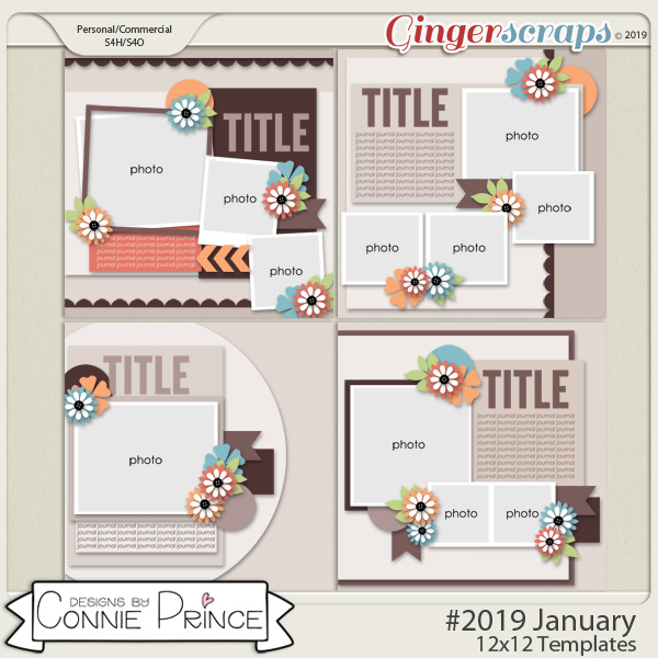 Keep Climbing - 12x12 Templates (CU Ok) by Connie Prince