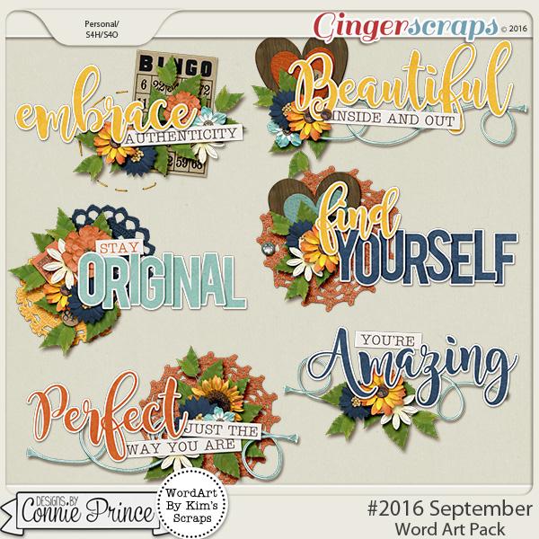 #2016 September - Word Art Pack