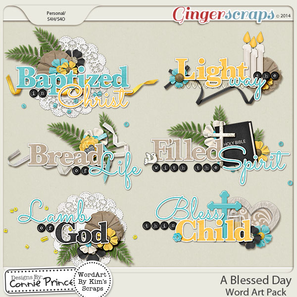 A Blessed Day - Word Art