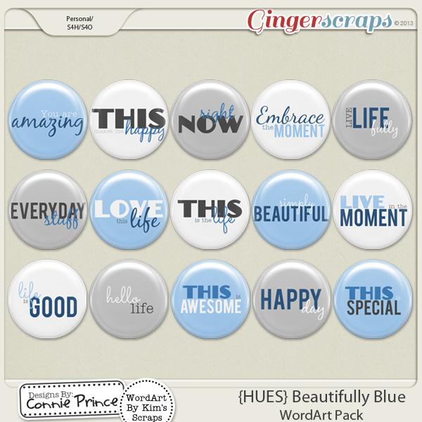 {HUES} Beautifully Blue - Flair Pack