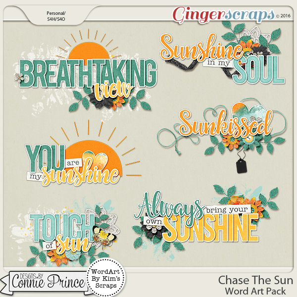 Chase The Sun - Word Art Pack