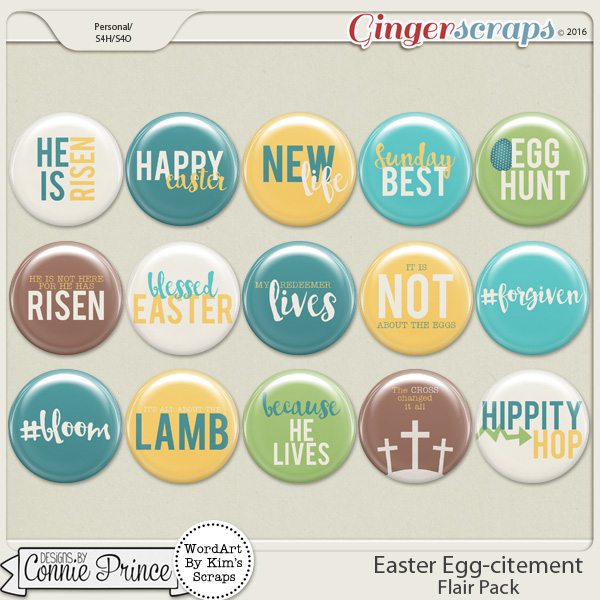 Easter Egg-citement - Flair Pack
