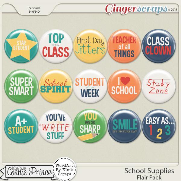 School Supplies - Flair Pack
