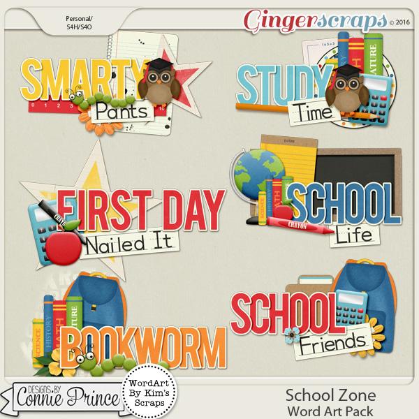 School Zone - WordArt Pack