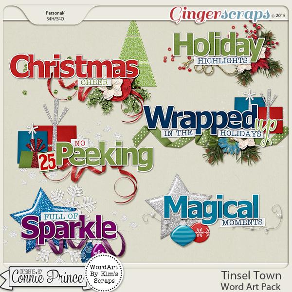Tinsel Town - WordArt Pack