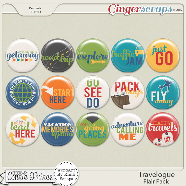 Travelogue - Flair Pack