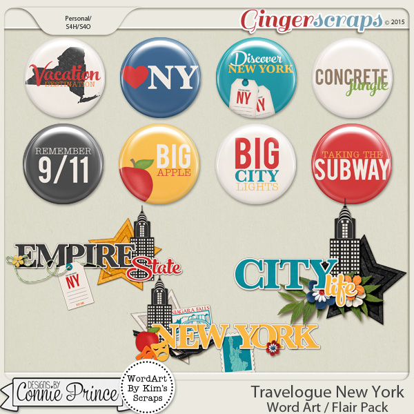 Travelogue New York - Word Art & Flair Pack