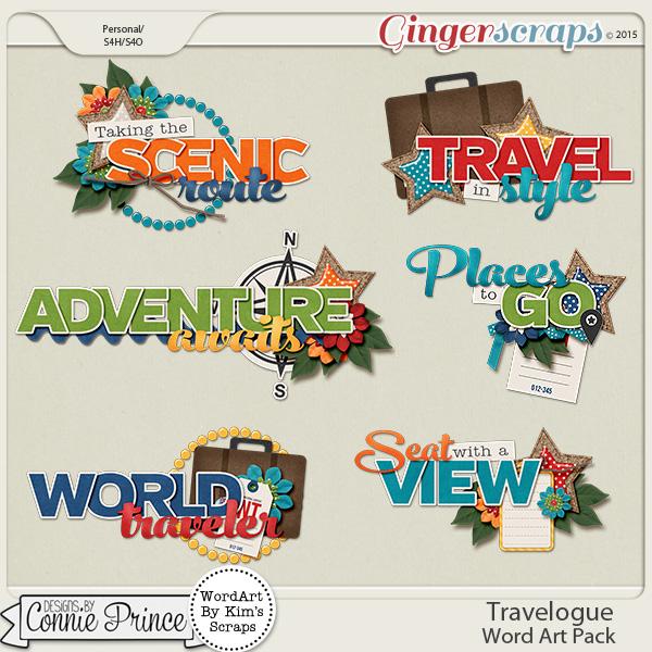 Travelogue - WordArt Pack