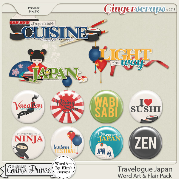 Travelogue Japan - Word Art & Flair Pack