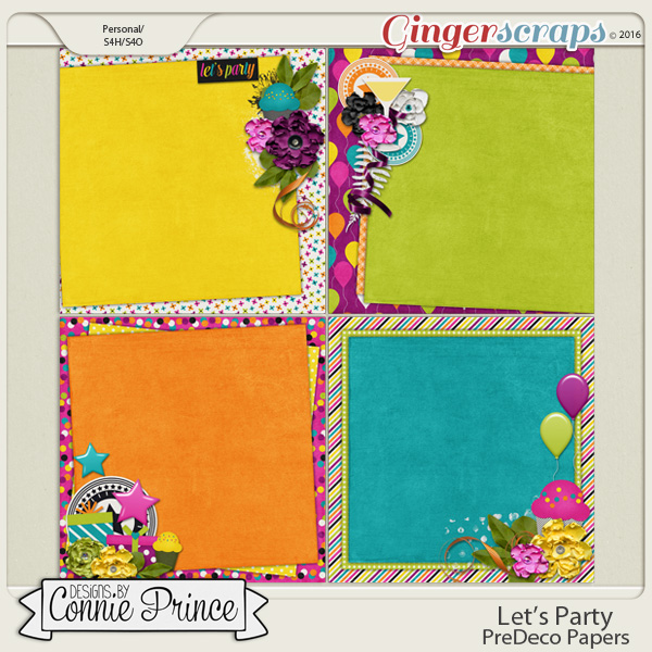 Let's Party - PreDeco Papers