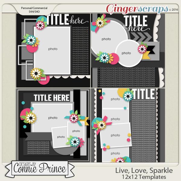 Live, Love, Sparkle - 12x12 Temps (CU Ok)