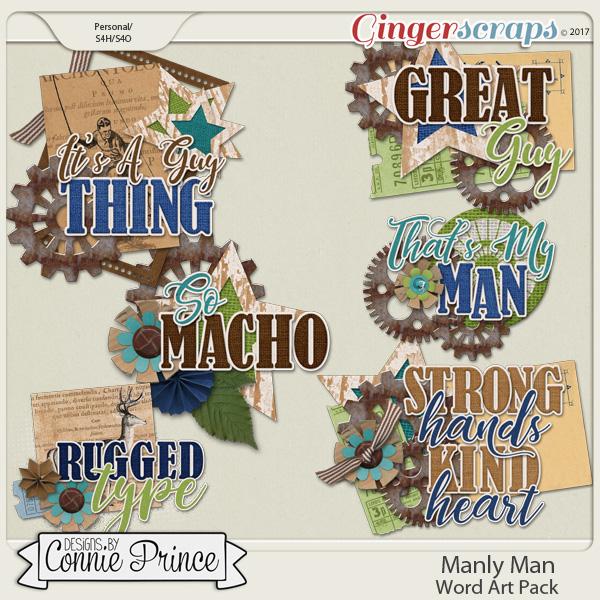 Manly Man - WordArt Pack