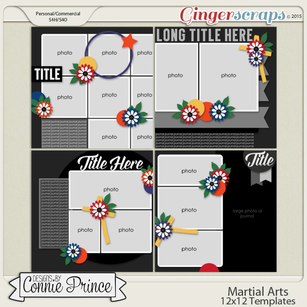 Martial Arts - 12x12 Templates (CU Ok)