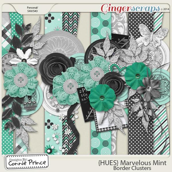{HUES} Marvelous Mint - Border Clusters