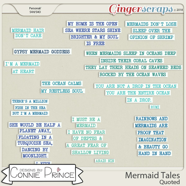 Mermaid Tales - Quoted by Connie Prince