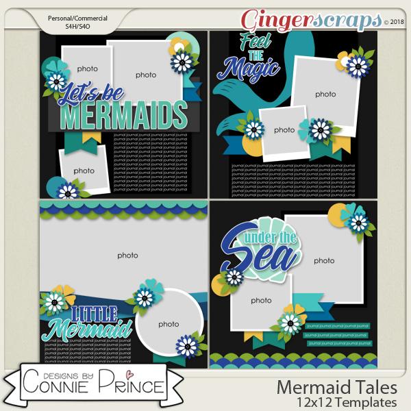 Mermaid Tales - 12x12 Templates (CU Ok) by Connie Prince