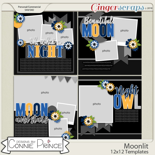 Moonlit - 12x12 Templates (CU Ok) by Connie Prince