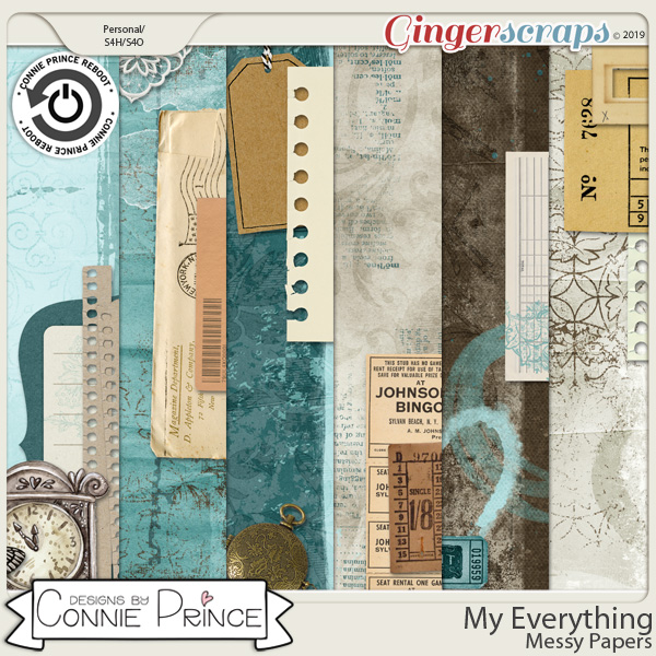 My Everything - Messy Papers by Connie Prince