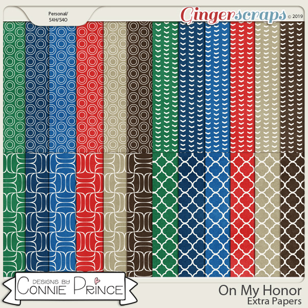On My Honor - Extra Papers by Connie Prince