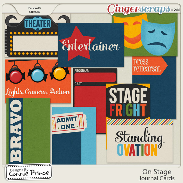 On Stage - Journal Cards