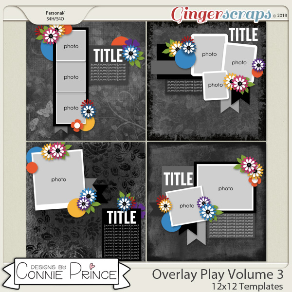 Overlay Play Volume 3 - 12x12 Temps (CU Ok) by Connie Prince