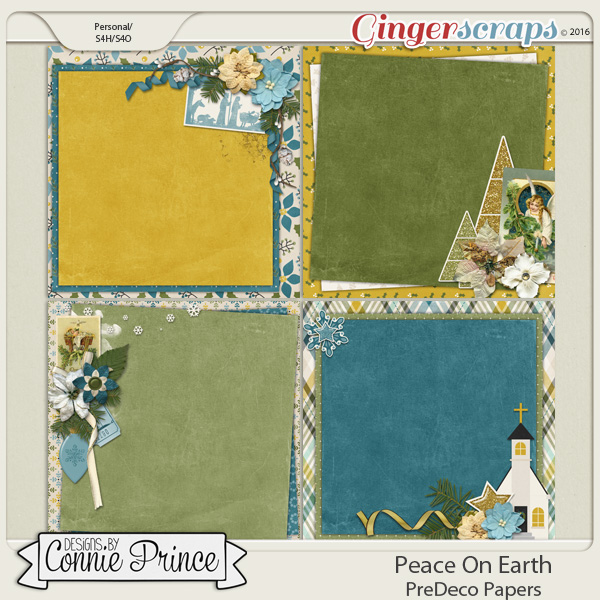 Peace On Earth - PreDeco Papers
