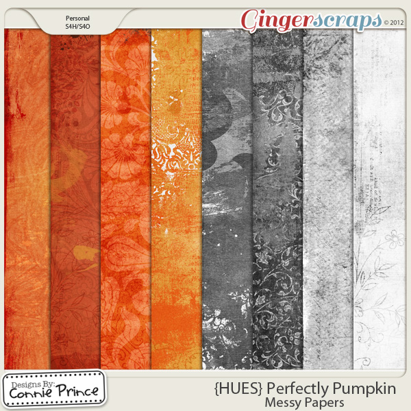 {HUES} Perfectly Pumpkin - Messy Papers