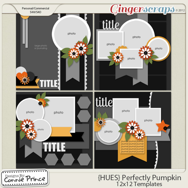 {HUES} Perfectly Pumpkin - 12x12 Temps Vol 1 (CU Ok)