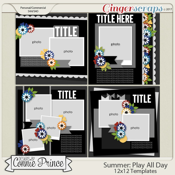 Play All Day - 12x12 Templates (CU Ok)