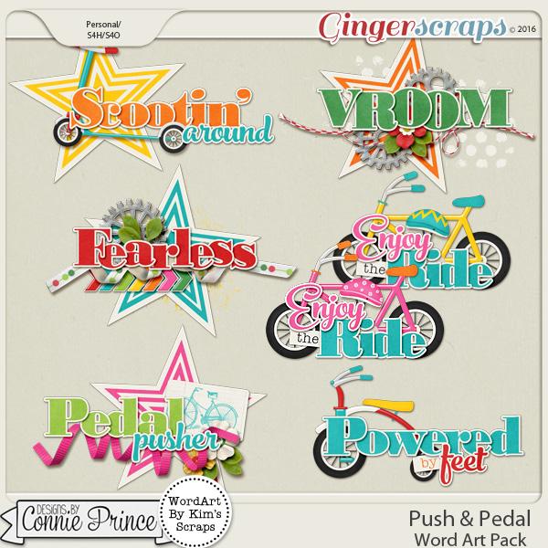 Push & Pedal - WordArt Pack