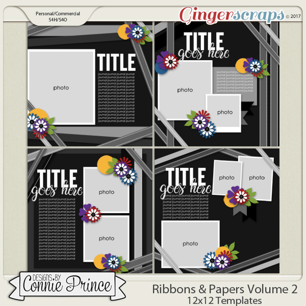 Ribbons & Papers Volume 2 - 12x12 Temps (CU Ok)