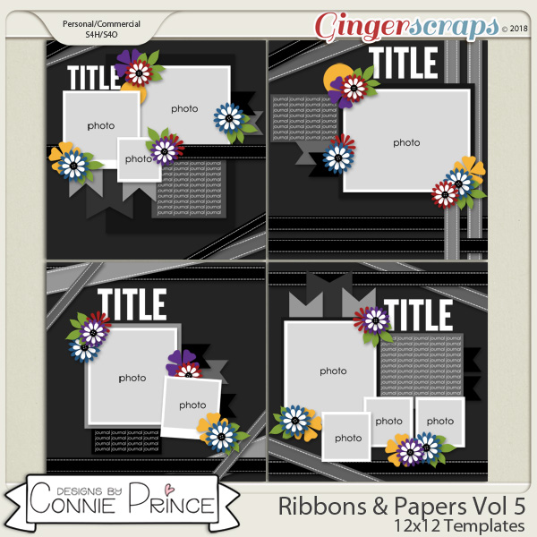 Ribbons & Papers Volume 5 - 12x12 Temps (CU Ok) by Connie Prince