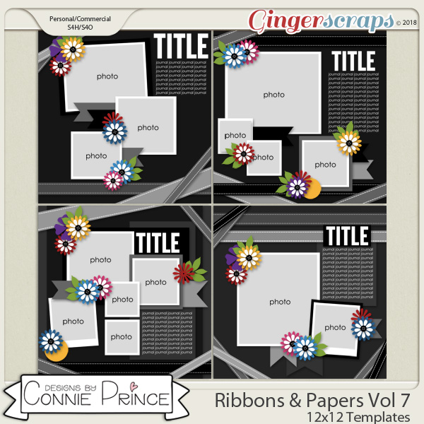 Ribbons & Papers Volume 7 - 12x12 Temps (CU Ok) by Connie Prince