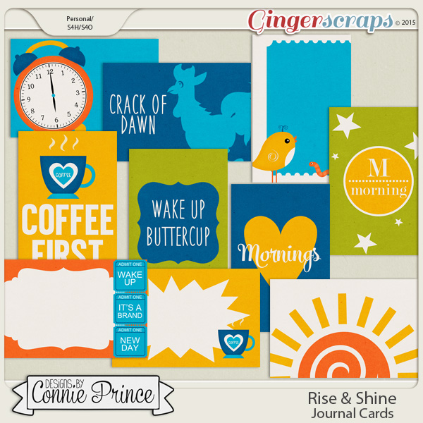 Rise & Shine - Journal Cards