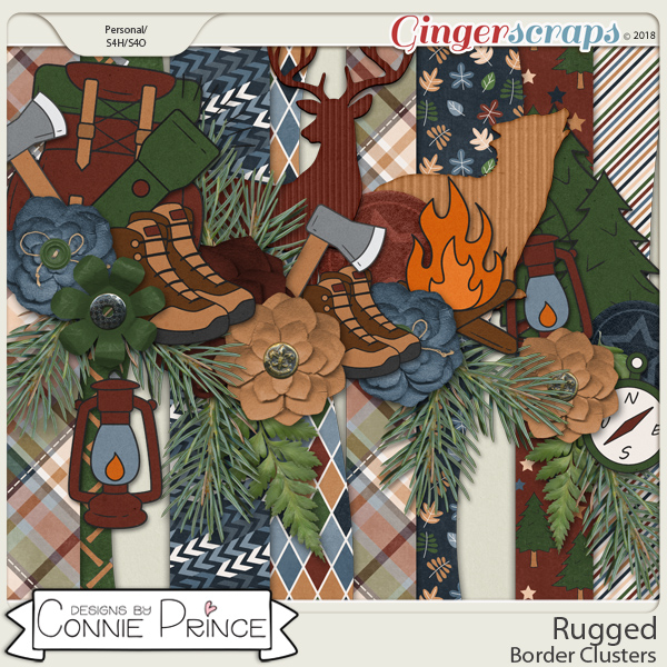 Rugged - Border Clusters by Connie Prince