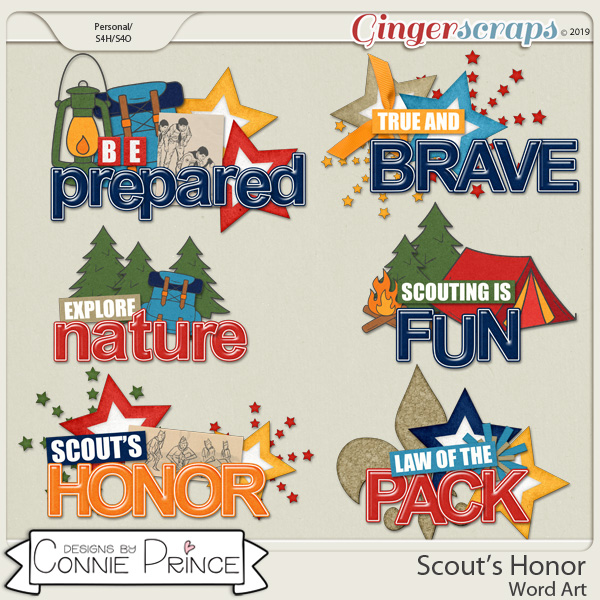 Scout's Honor - Word Art Pack by Connie Prince