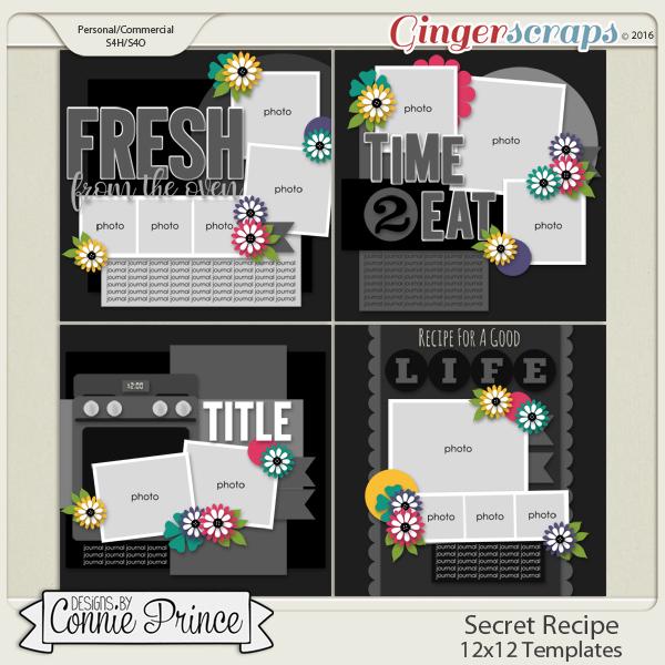 Secret Recipe  - 12x12 Templates (CU OK)